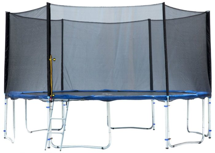Exacme TUV Approved Trampoline with Safety Pad, Enclosure Net, Ladder