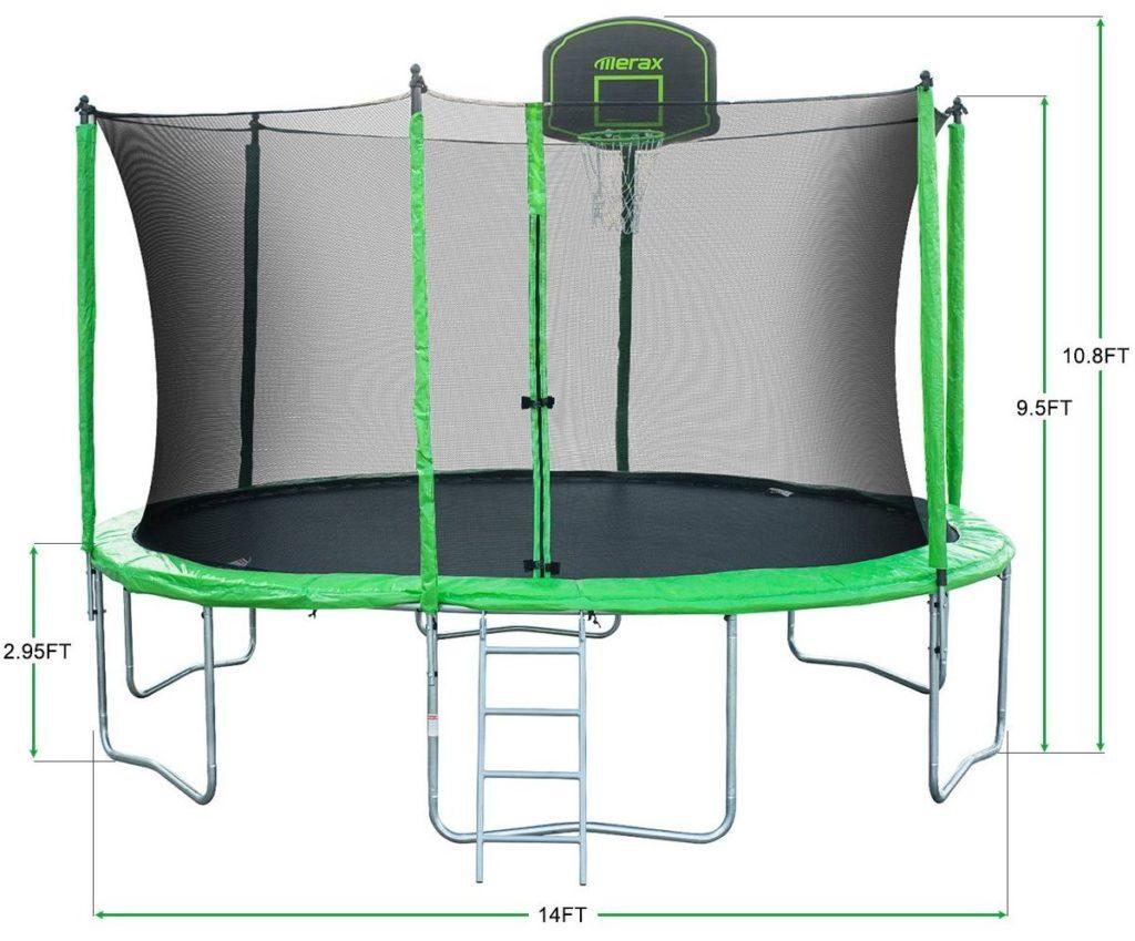 Merax 14-Feet Round Trampoline