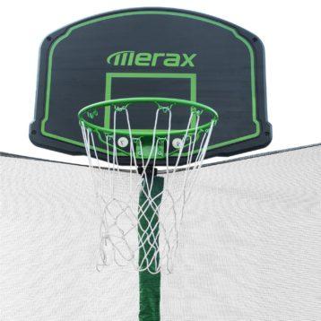 Merax 14-Feet Round Trampoline 3 Basketball hoop