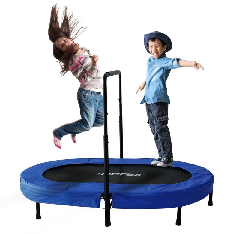 Merax Parent-Child Trampoline Twin Trampoline