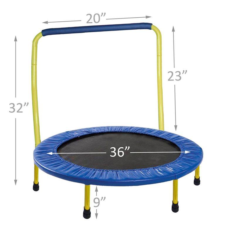 Portable & Foldable Trampoline - 36 Dia