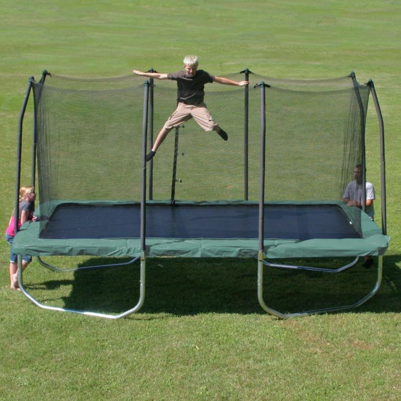 Summit 14 feet Rectangle Trampoline with Safety Enclosure